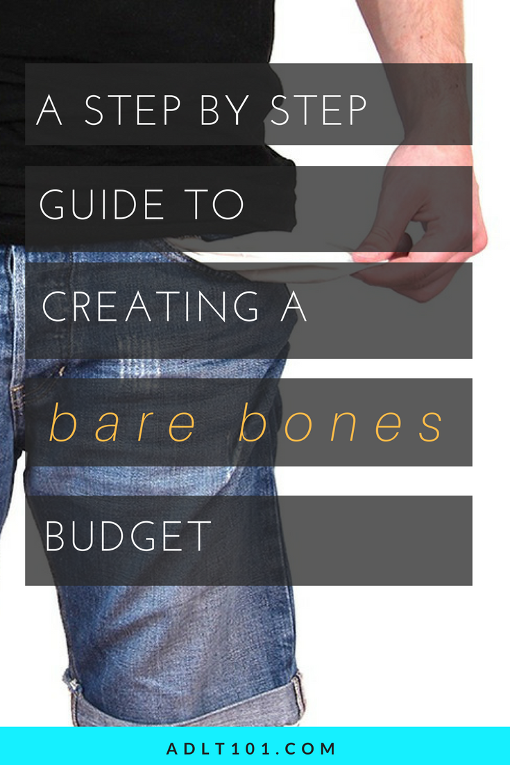 Do you need to get really serious about budgeting... like only spending on things that you absolutely NEED?! Well it can be done! Here is a step by step guide to making your tightest bare bones budget yet! Don't have time to read it now? Repin for later!